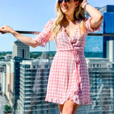 Print of Spring: Pink Gingham