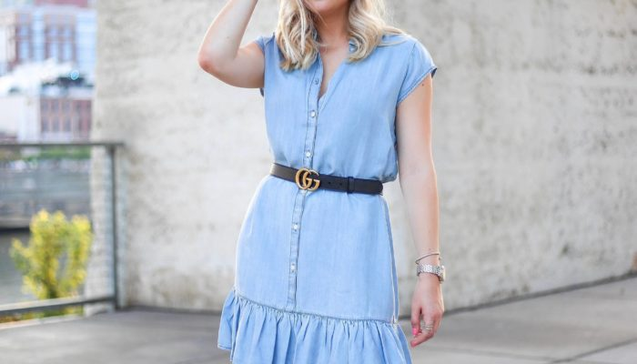 Transition into Fall with Chambray Dresses