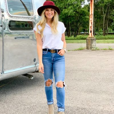 Cool Girl Fall Series: Wool Fedora Hats + White Button Downs