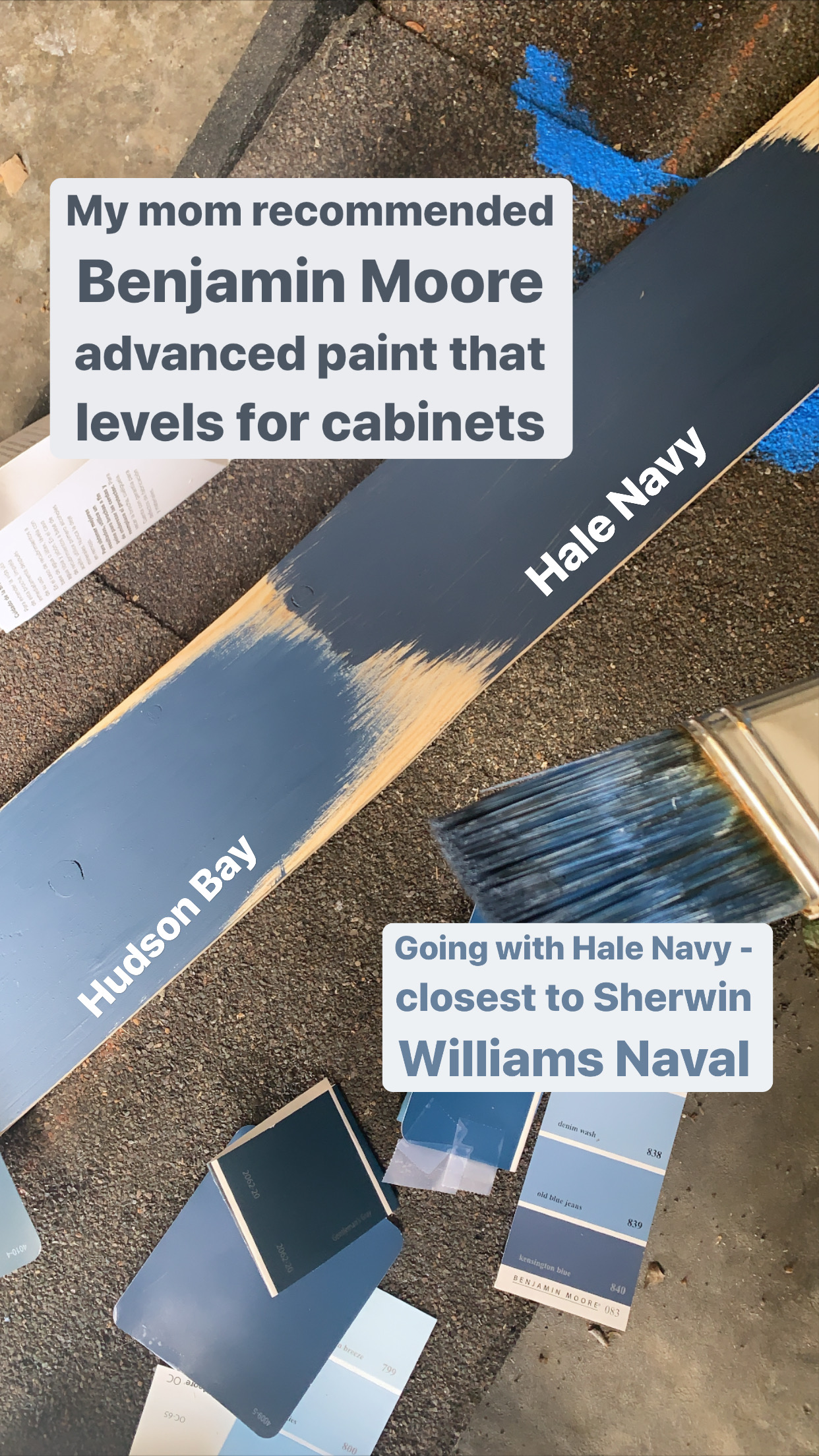 Hale Navy vs Hudson Bay Benjamin Moore